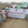 NWA IDPs holding CERD Banners and Charts against violence
